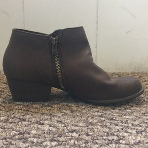 Unionbay Brown Ankle Booties